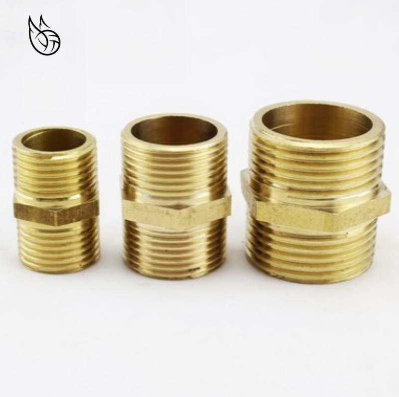 Brass Pipe Hex Nipple Fitting Quick Adapter 1/8