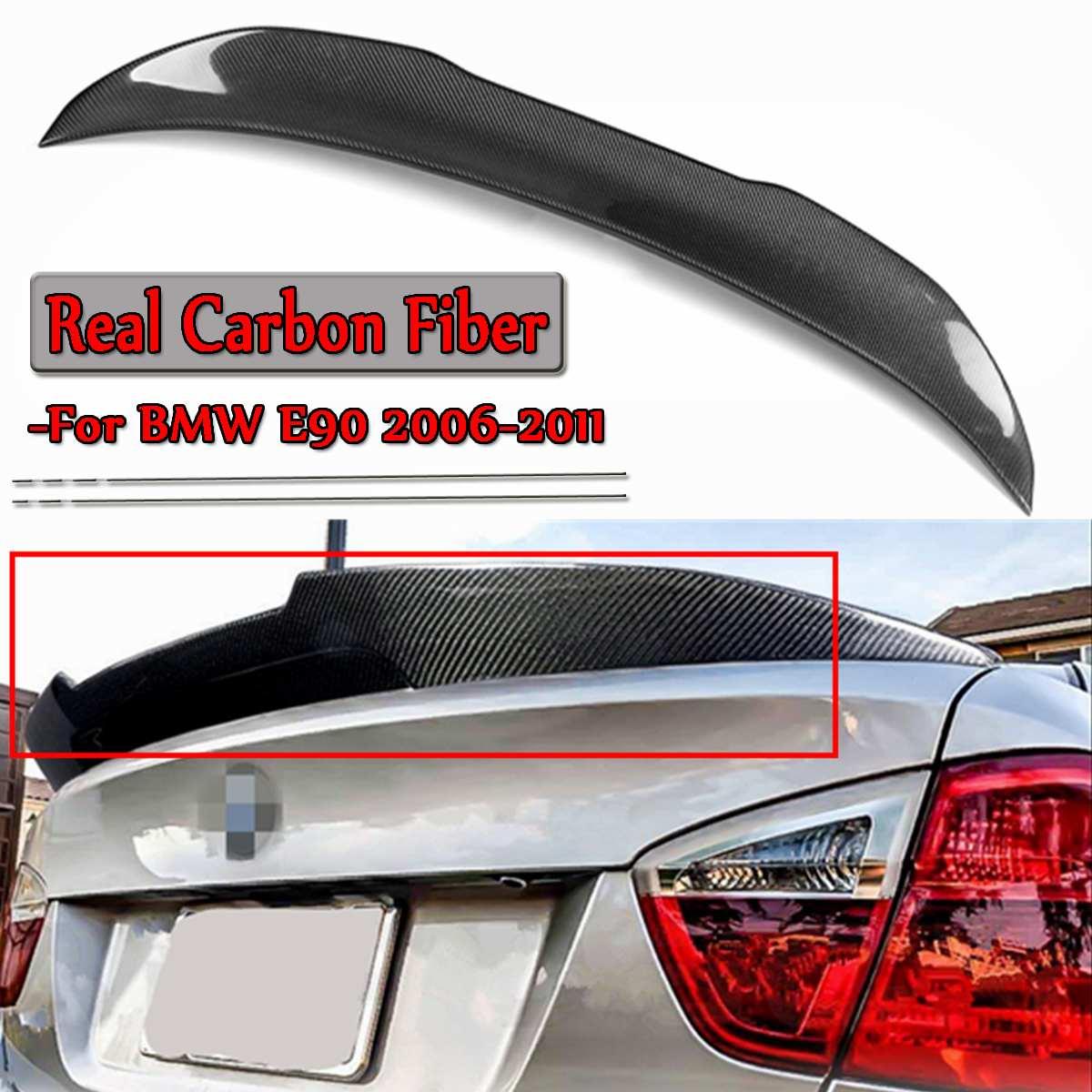 New E90 Real Carbon Fiber Car Rear Trunk Spoiler Wing For BMW E90 3 Series M3 4 Door Sedan 2006-2011 Racing Spoiler WingNew E90 Real Carbon Fiber Car Rear Trunk Spoiler Wing For BMW E90 3 Series M3 4 Door Sedan 2006-2011 Racing Spoiler Wing