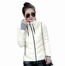 Flying Roc 2019 Winter Parka Women Jackets Korea Style Blue Coat Hooded Femme Kort Jasje Femmes Manteaux Hiver