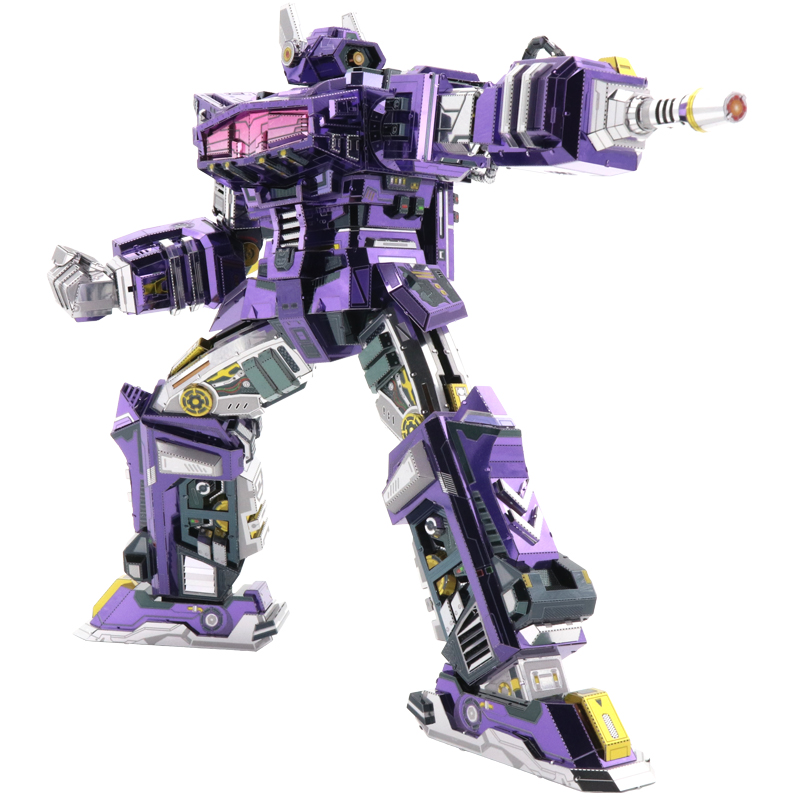 MMZ MODEL MU Shockwave G1 3D Metal Model Kits DIY Assemble Puzzle Laser Cut Jigsaw Building Toy YM-L059 for Gift
