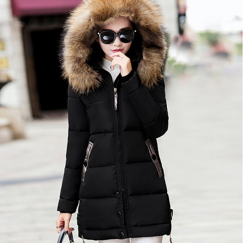 Jackets Coats Winter Women Jacket Thick Parkas Casual Fur Hooded Coat For Ladies Female Warm Slim Parka Winter Jacket Femme
