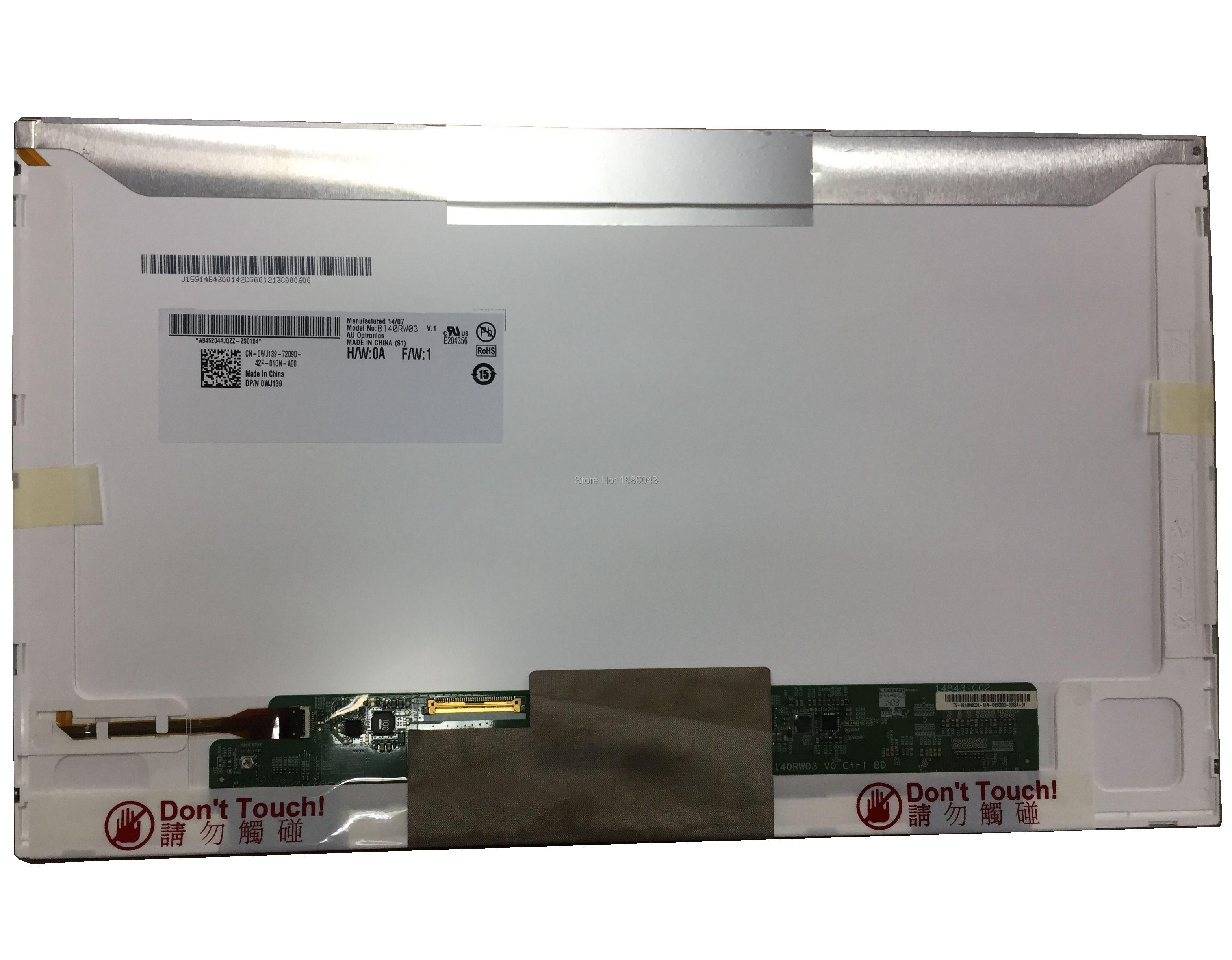 B140RW03 V.1 V.0 Fit LTN140KT04 N140O6-L02 LTN140KT01 LTN140KT07 LP140WD1 TLM1 40PIN 1600*900 NEW LED Display Laptop Screen