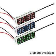 Onever светодиодный температурный термометр Вольтметр светодиодный дисплей цифровые часы цифровой таймер зеленый синий красный светильник