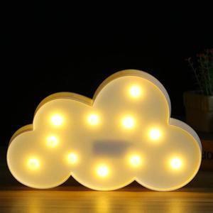 Image 3 - 素敵なクラウド月は 3D夜の光かわいい子供のギフトのおもちゃ子供の寝室の装飾ランプ屋内歓迎ドロップシップ