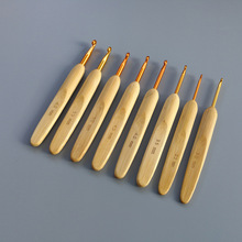 8pcs/set Aluminum Crochet Hook Bamboo Handle  Knitting Craft Tool Cloth Sewing DIY Weave