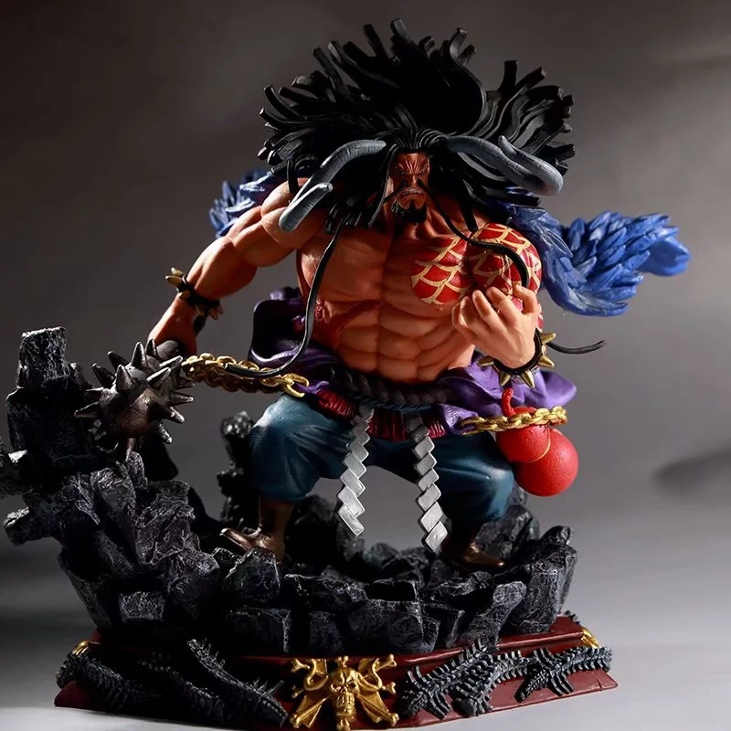 28-30cm One Piece Four Emperors Beasts Pirates KAIDO PVC Action Figures Toys Anime Figure Toys For Kids Children Christmas Gifts