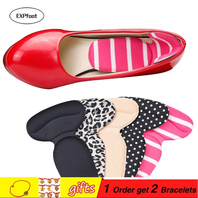 bbe5b2840ec US $6.41 45% OFF|4 Pairs Soft T Shape High Heel Grips Liner Arch Support  Orthotic Shoes Insert Insoles Foot Heel Protector Cushion Pads for Women-in  ...