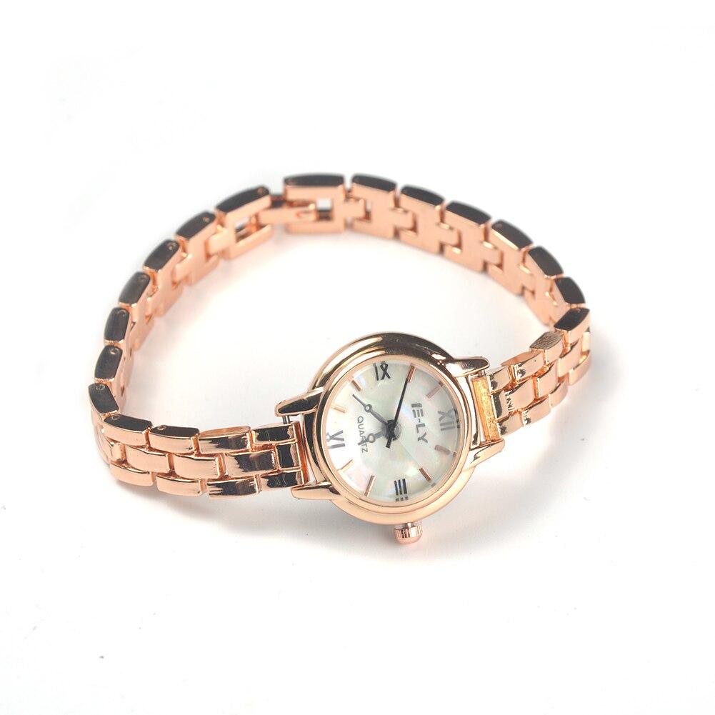 High quality Alloy New Women Casual Shell Shape Wristwatch Bracelet Analog Quartz Wrist Watch Gift Gold Silver