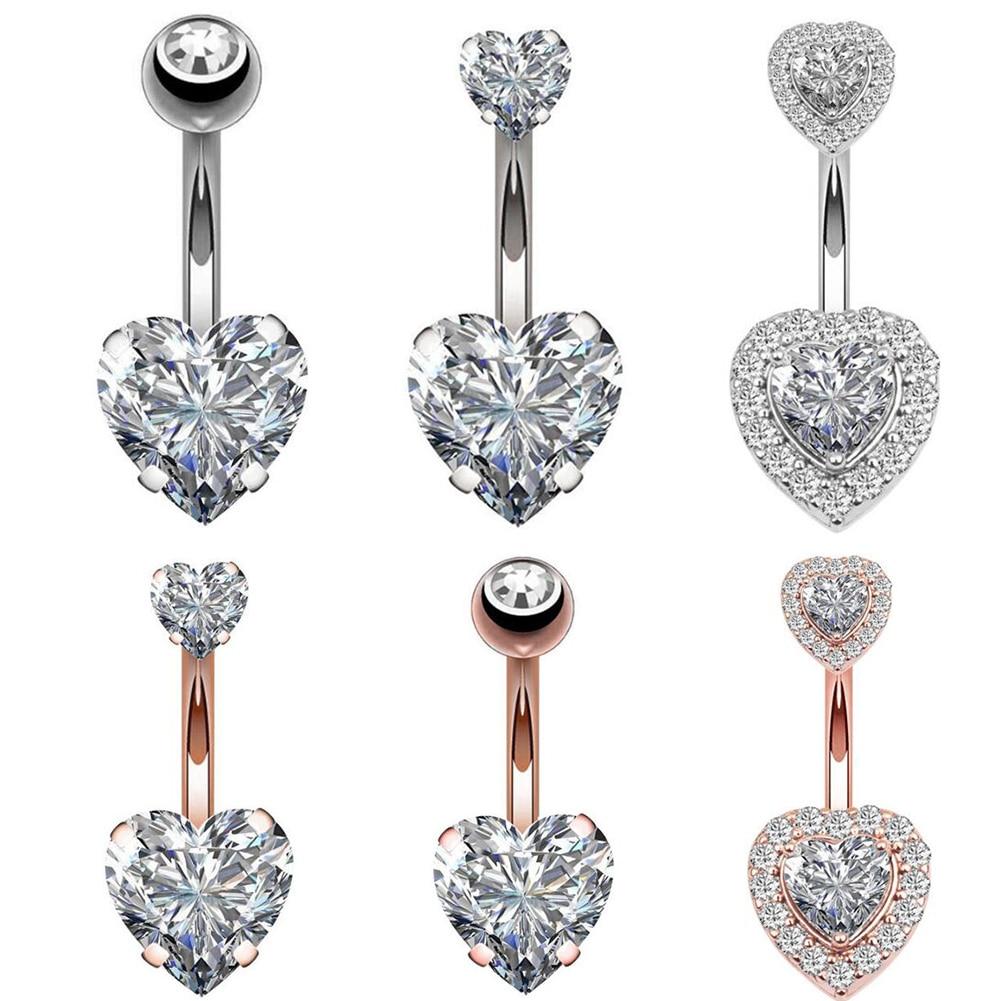 Jewelry Navel-Earring Button-Rings Piercing Belly Steel Heart-Style Sex-Body