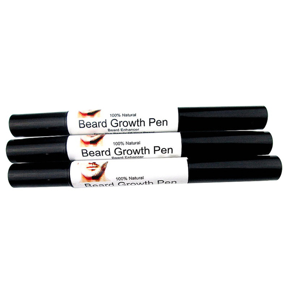 Natural Facial Hair Growth Fast Grow Bread Mustache Eyebrow Sideburns Liquid Pen
