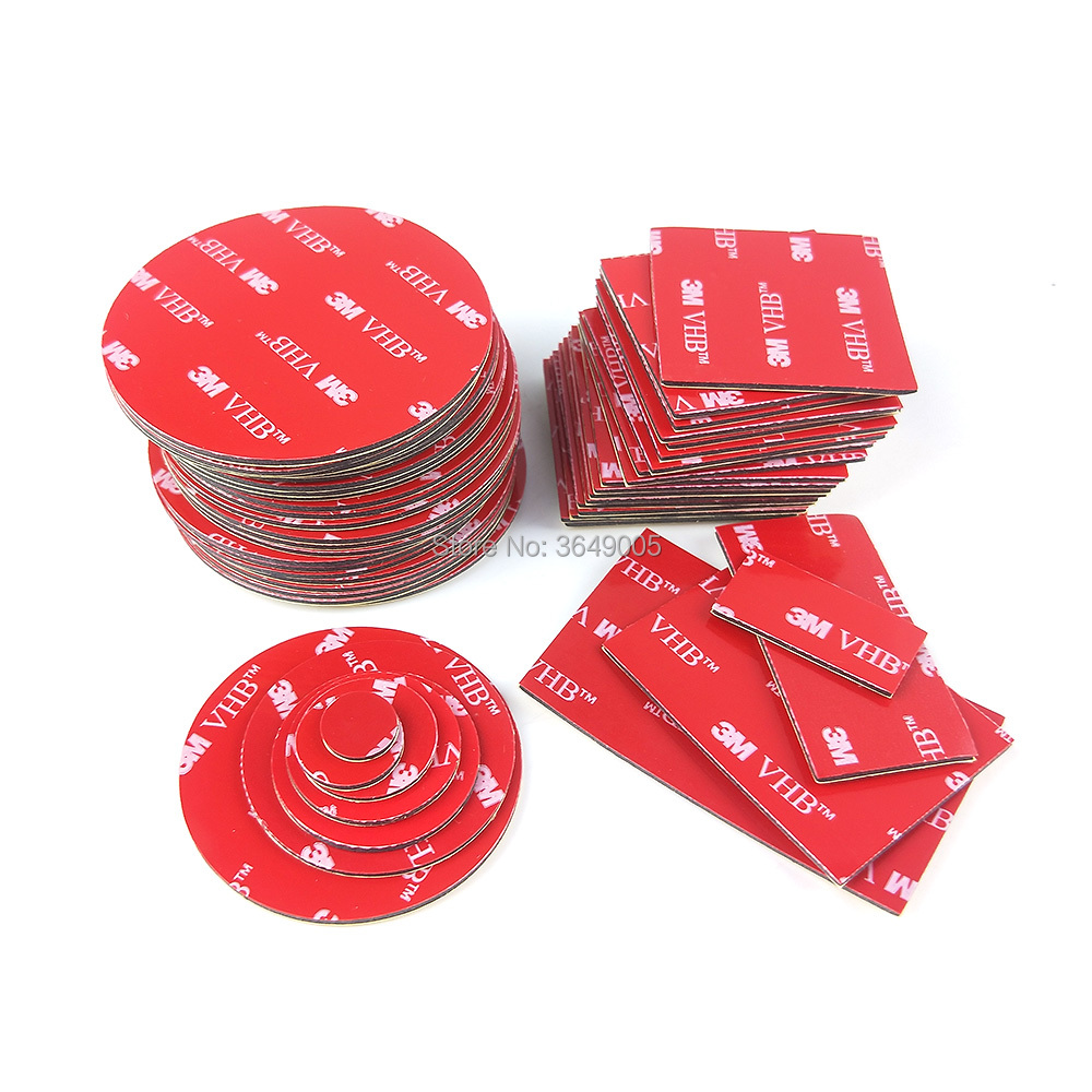 10PCS Die Cut Shape Round 3M VHB 5952 Thickness 1.1mm Foam Tape Acrylic Adhesive Double Sided Round Stickers