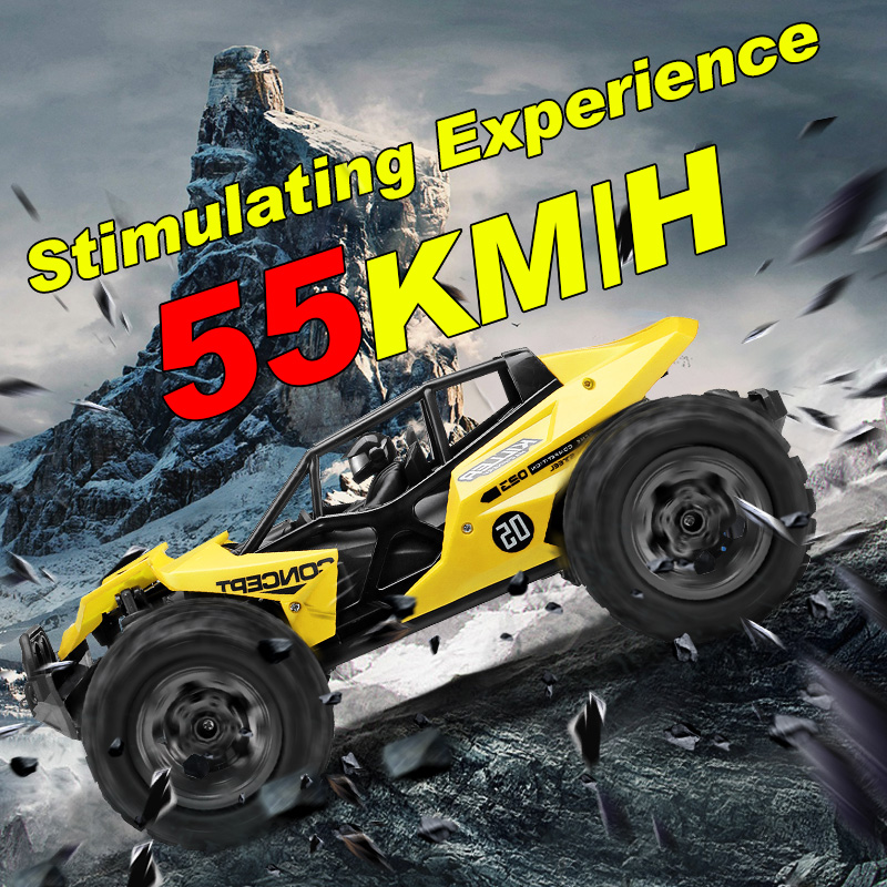 Voiture RC 55 KM/H 4WD haute vitesse voiture de course escalade télécommande voiture électrique hors route véhicule camion 1:12 dérive cadeaux pour garçons