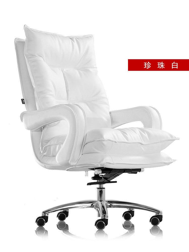 Купить с кэшбэком Happy Seat Household Main Sowing Genuine Leather Boss Can Lie Lift Gaming European Sofa Directly Swivel Chair You