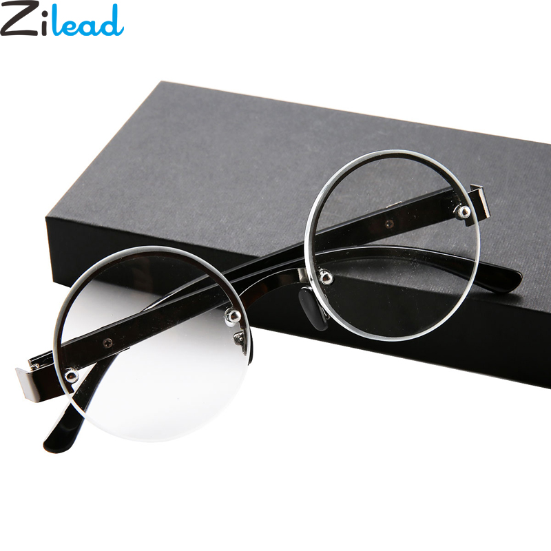 Zilead Round Half-frame Reading Glasses Presbyopia Glasses Eyewear With Diopter +1.0+1.5+2.0+2.5+3.0+3.5+4.0
