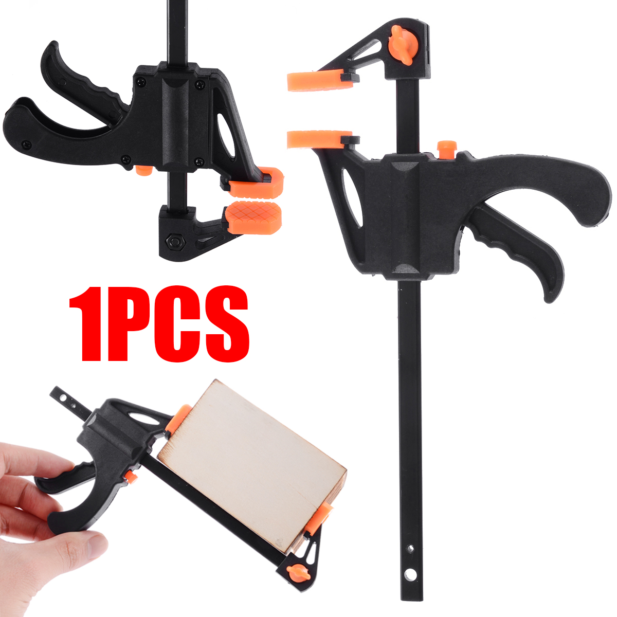 4 Inch Fast Quick Woodworking Clip Wooden Board Tool Release Speed Squeeze Work Bar Clamp Spreader Gadget Tool