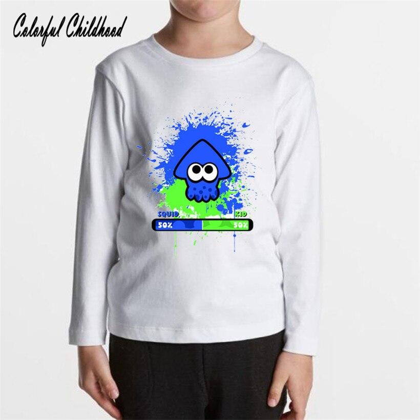 Children Splatoon Underwear Cartoon-Figure Long-Sleeve Autumn Winter Kids Cotton Warm