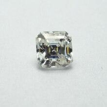 6*6mm Asscher Cut White Moissanite Stone Loose Diamond 1.06 carat moissanite stone