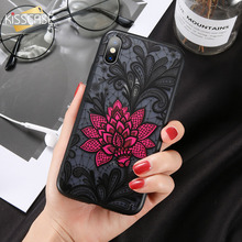 KISSCASE Lace Flower Phone Case For Huawei Y7 Y5 Y9 2018 Prime Emboss Back P Smart Y3 2017 2019 Cover