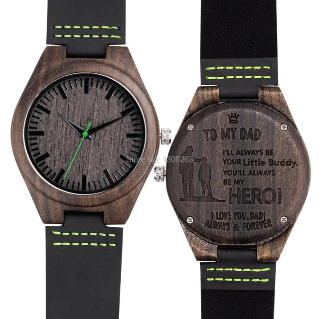 Engraved Wooden Men Groomsmen Watch For Husband Son Natural Bamboo Customized Wood Birthday Anniversary Gift