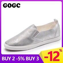 Купить с кэшбэком GOGC Brand Summer Women Shoes with Hole Breathable Slip on Footwear Flat Shoes Women Slipony Women Sneakers Vulcanize Shoes G934