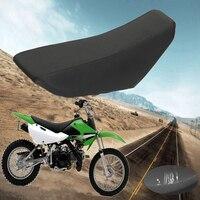 46x22cm Black Complete Seat Foam Black soft comfortable Fit For Kawasaki KLX-110 KX-65 Dirt Bike Motocross 2000-2013