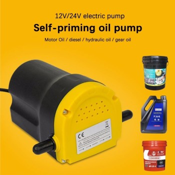 Oil Suction Pump 12V/24V 3~4L/Min Electric Engine For Fuel Fransfer , Motor-oil Drainage Extractor For Car/Boat/Motorbike 12 V rastp 12v electric fuel gas oil pump 3 6 psi pressure hep 02a universal for car truck boat rs fp009