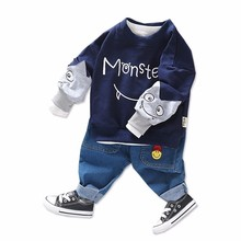 2019 Spring Autumn Baby Girls Boys Clothing Sets Children Clothes Suits Cartoon Casual T Shirt Pants 2Pcs Toddler Infant Costume spring autumn boys clothing sets children sport suit toddler tracksuit girls tshirt pants baby sweatshirt cartoon casual clothes
