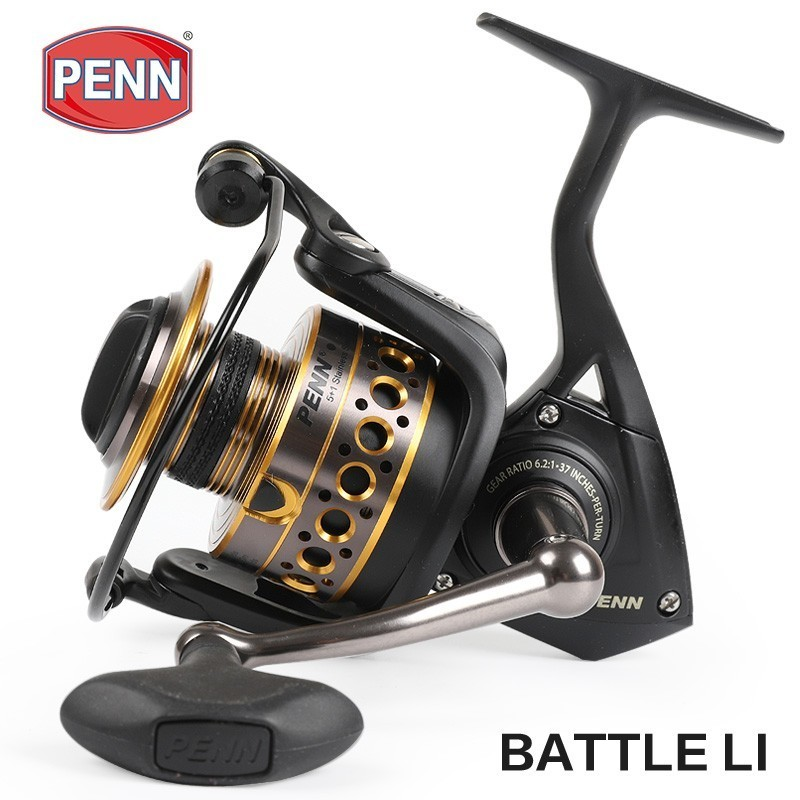 Original Penn Battle Ii Btl 2500 8000 Spinning Fishing Reel 6bb Big Sea Saltwater Boat Fishing