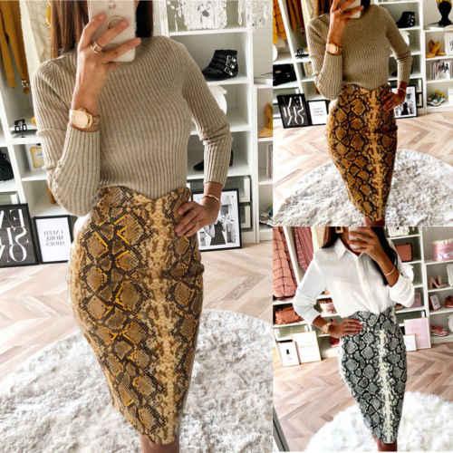 6e185cdc6320 Detail Feedback Questions about New Fashion Women Bodycorn High Waist Snake  Print Pencil Skirt Tube Knee Length Work Club Wear Clothes on  Aliexpress.com ...