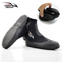 5mm Neoprene Diving Boots Winter Cold Proof Feet Warm Water High Upper Scuba Fins Spearfishing Aqua Surf Swimming Monofin Shoes