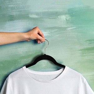Image 3 - 8 adet kadife elbise askıları Premium kaymaz elbise askısı klipleri elbise ceketler Coats elbise pantolon