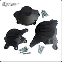Motorcycle Engine Stator Crank Case Cover Set Black Crash Pad Slider Protector For HONDA CBR600RR CBR 600 RR 2007 2016