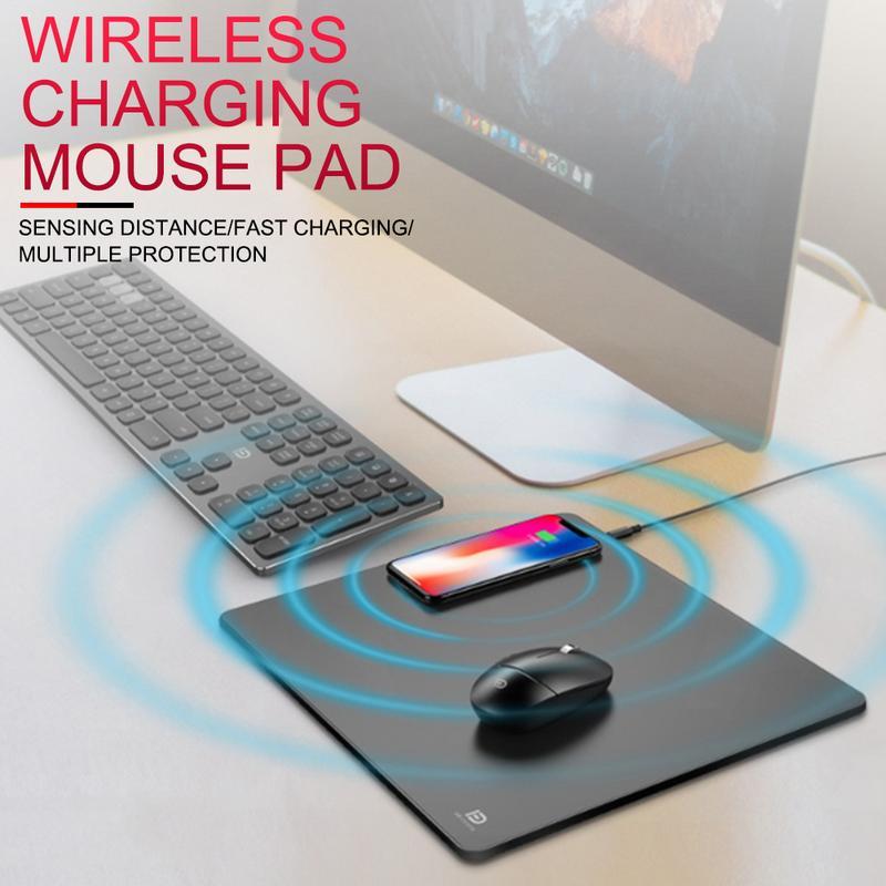 Nouvelle vente FD866 tapis de souris de charge sans fil universel téléphone Mobile Qi tapis de souris de charge sans fil