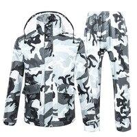 TINGQI Camouflage Raincoat Male Female Rainwear Waterproof Hiking Rain Coat Rain Suit Motorcycle