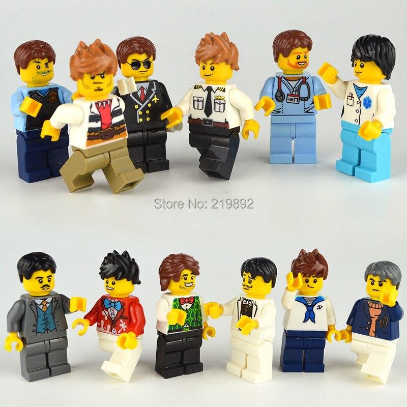 12pcs New LegoINGlys Girl Friends Girl Dress Suit  Mini Dolls Figures Bricks Set Building Blocks Toys For Children Girl Gifts