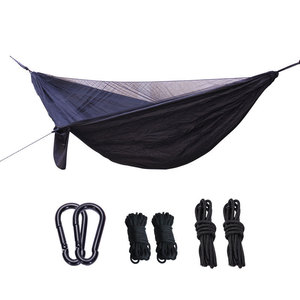 Image 3 - Outdoor Anti mosquito Net Hammock+Canoy Set Double Use Portable Camping Awning Tent For 1 2 People Sleeping Hanging Chair
