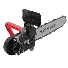11.5 Inch Chainsaw Refit Conversion Kit Change Angle Grinder into Chain Saw Woodworking Power Tool with 10mm Connecting Rod цена