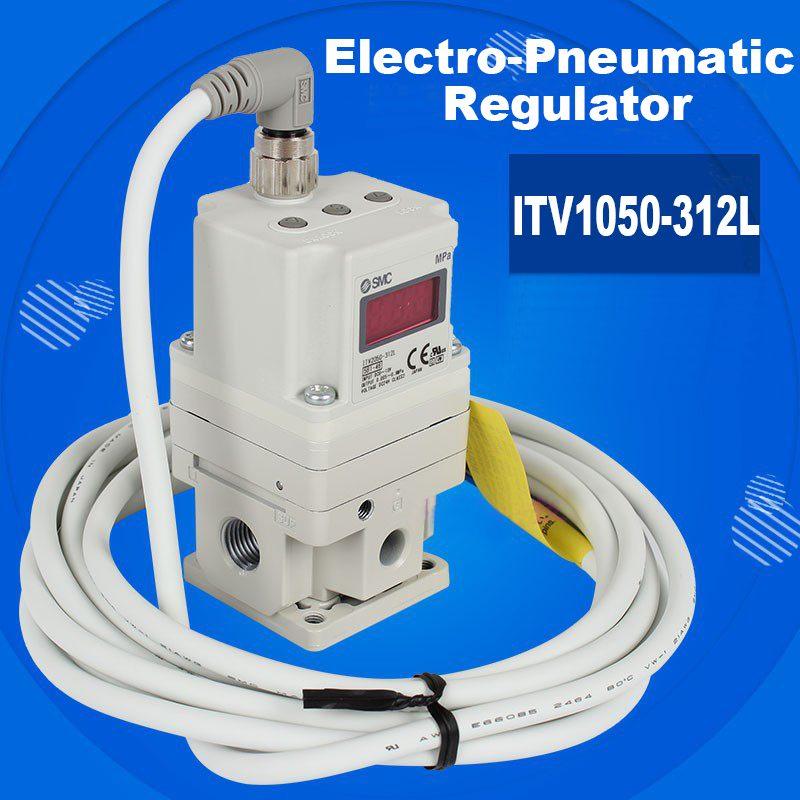SMC Electronic Vacuum Regulator/ Electro Pneumatic Regulator ITV2030 312L for Pneumatic Equipment Control Air pressure New