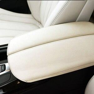 Image 2 - עבור BMW X5 E70 2007 2008   2013 / F15 2014 2015 2016 2017 2018 רכב מרכז משענת יד תיבת כרית מיקרופייבר עור מגן כיסוי