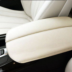 Image 2 - For BMW X5 E70 2007 2008   2013 / F15 2014 2015 2016 2017 2018 Car Center Armrest Box Pad Microfiber Leather Protective Cover