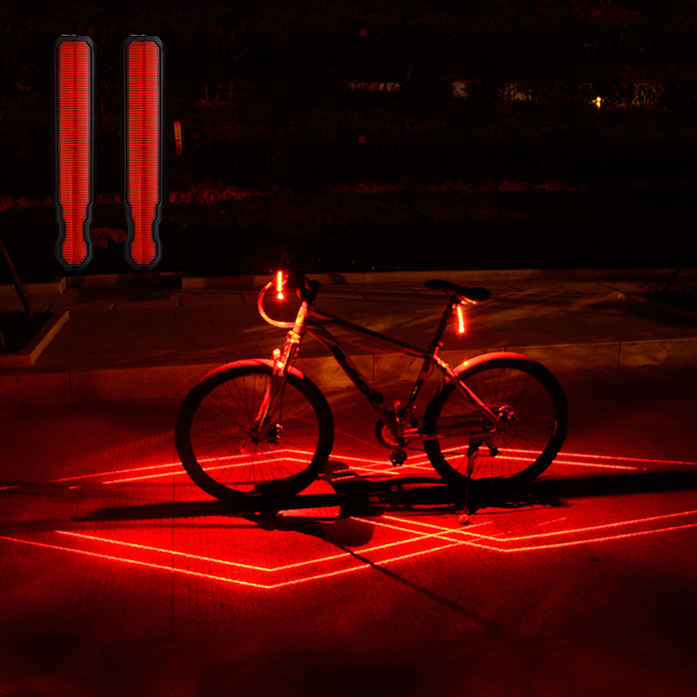 Bicycle Taillight USB Rechargeable Laser Lamp LED Rear Bike Light IPX5 Waterproof Bicycle Light For Cycling