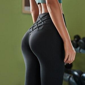 Image 5 - גבוהה מותן בטן בקרת גרביונים Leggins נשים חלקה ספורט חותלות כושר ספורט אישה כושר יוגה מכנסיים ספורט ללבוש