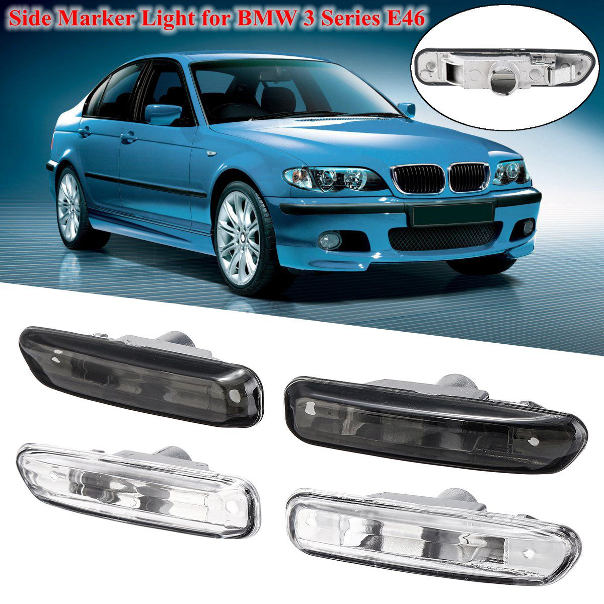 For BMW 3 Series E46 316I 318I 325I X3 E83 E90 4D/2D 1999-2003 1 Pair Turn Indicator Side Marker Lamp Lights Turn Signal LightFor BMW 3 Series E46 316I 318I 325I X3 E83 E90 4D/2D 1999-2003 1 Pair Turn Indicator Side Marker Lamp Lights Turn Signal Light
