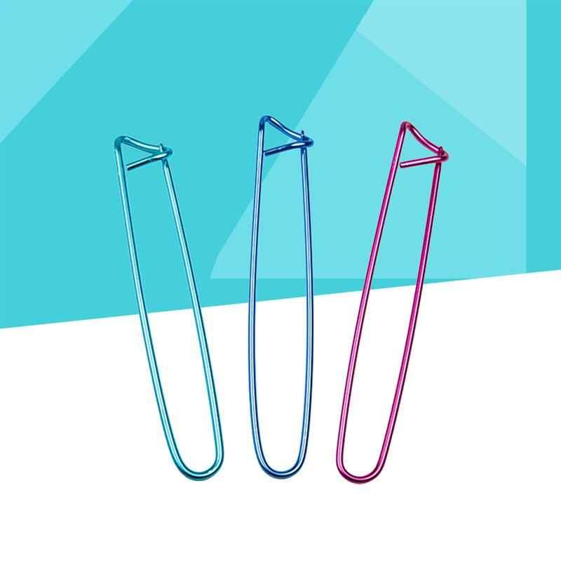 10pcs 크로 셰 뜨개질 바늘 뜨개질 관념 또는 크로 셰 뜨개질을위한 반짝이 알루미늄 원사 스티치 홀더 안전 핀