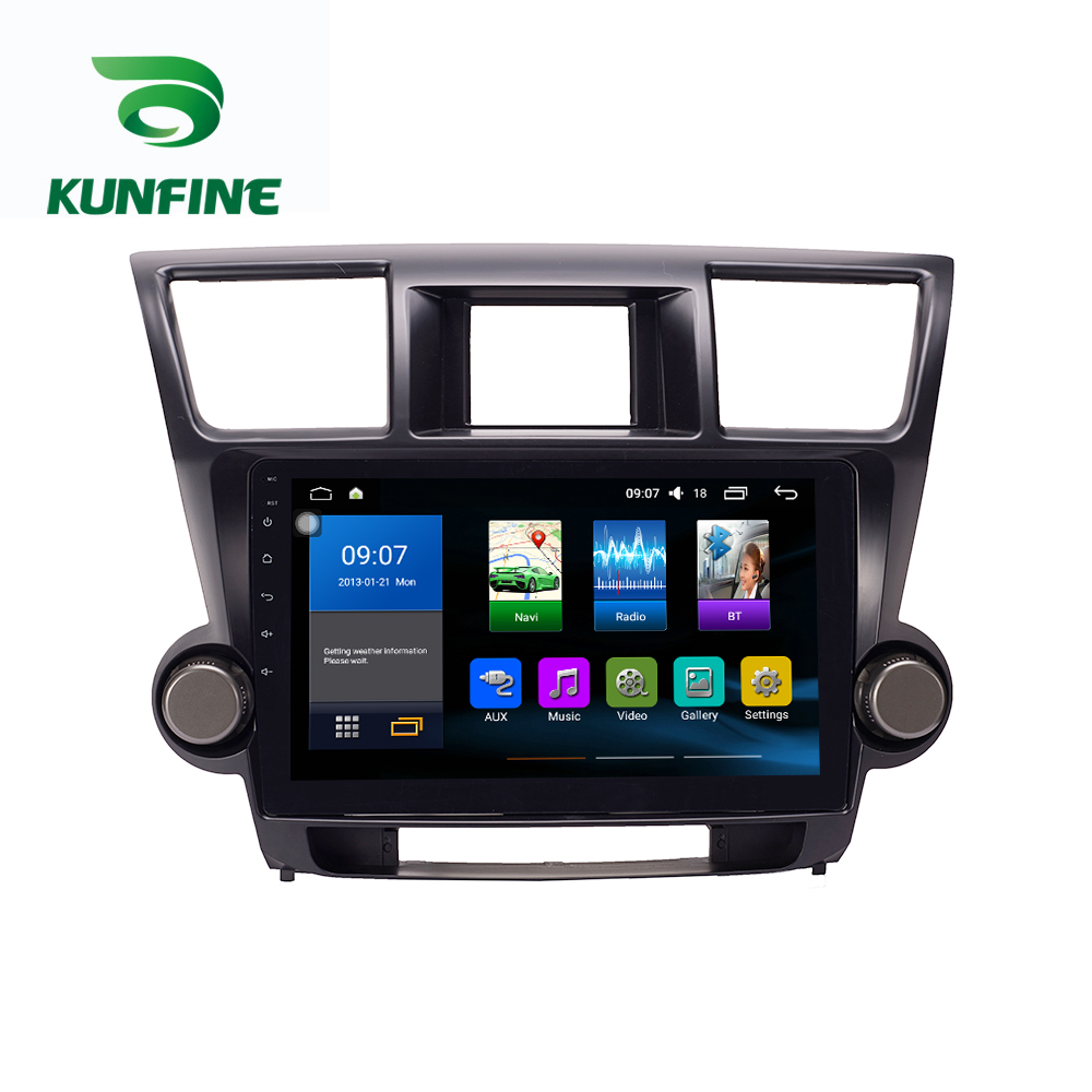 Octa Core 1024*600 Android 8.1 Car DVD GPS Navigation Player Deckless Car Stereo for Toyota Highlander 2009-2013 Radio Headunit