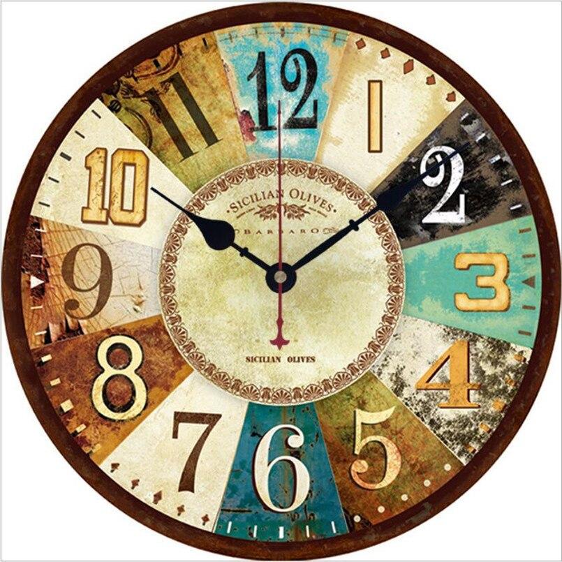 New 3D Wall Clock European 30cm/34cm Silent Movement Wall Clock Retro Duvar Saati For Living Room Industrial Style Clock For BarNew 3D Wall Clock European 30cm/34cm Silent Movement Wall Clock Retro Duvar Saati For Living Room Industrial Style Clock For Bar