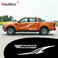 Car Side Body Decal Sticker forFord Ranger DIY Car Decoration Decal for Hatchback Sedan SUV Pickup Truck Decals Auto Part 280cm