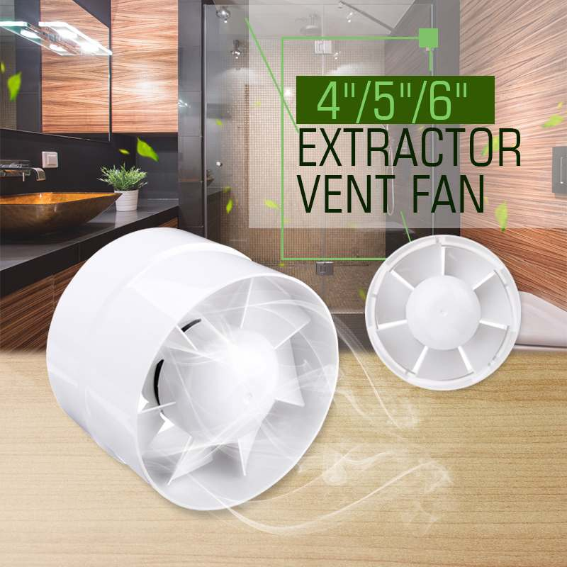 4/5/6 Inch Ventilator Air Vents Wall Ventilation Inline Ducted Fan Exhaust Pipe Extractor Fan 220V for Bathroom Kitchen Toilet4/5/6 Inch Ventilator Air Vents Wall Ventilation Inline Ducted Fan Exhaust Pipe Extractor Fan 220V for Bathroom Kitchen Toilet