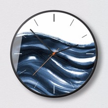 New 3D Quartz Wall Clock Modern Design 12inch/14inch Silent Movement Large Size Mute Metal Round Big Home Decor