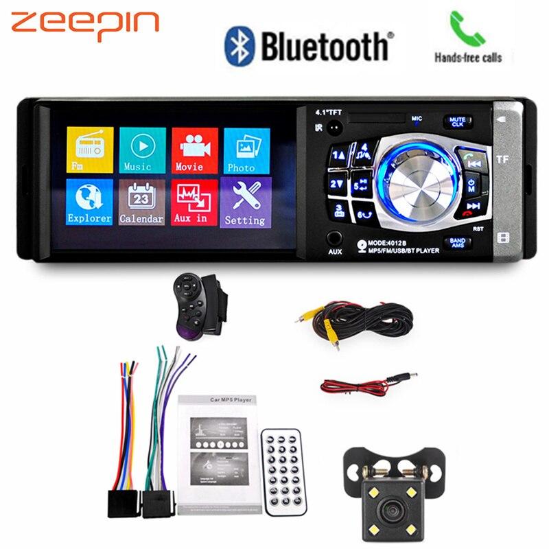 4.1 pouces voiture MP5 Radio lecteur multimédia Bluetooth FM transmetteur mains libres appelant Audio vidéo avec caméra arrière télécommande